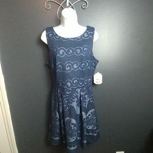 Altar'd State 2 tone blue dress new nwt L